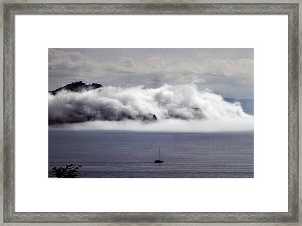 Angel Island Fog Framed Print