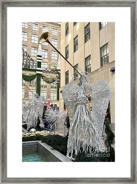 Angel New York City Framed Print