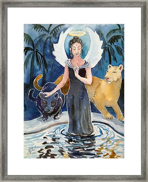 Angel Of Balance And Harmony Framed Print