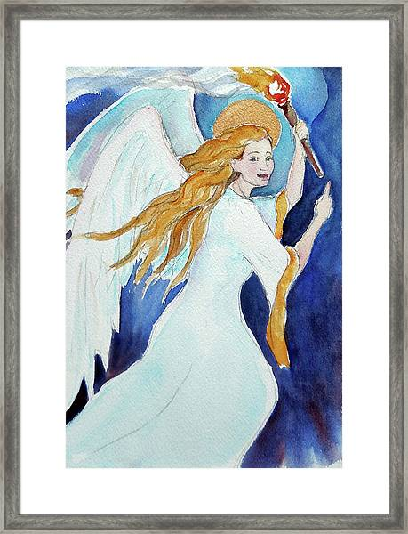 Angel Of Illumination Framed Print