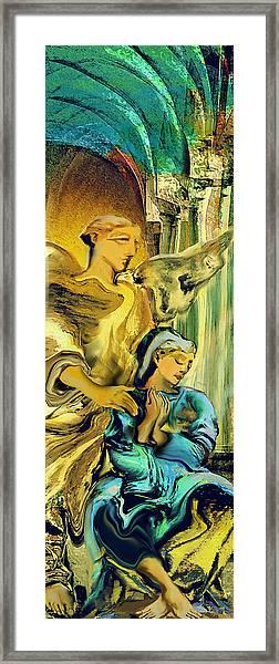 Angel Of Mercy Framed Print by Anne Weirich