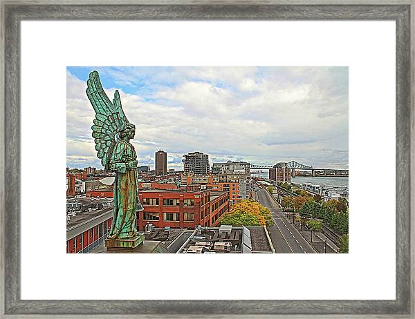 Angel Of Old Montreal Framed Print