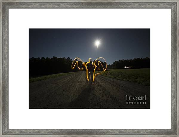 Angel Of The Blood Moon Framed Print