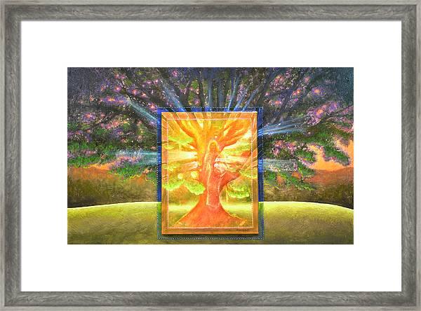 Angel Of The Trees Framed Print
