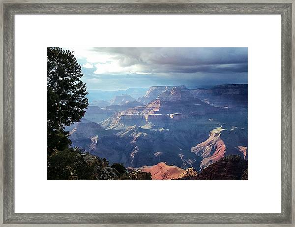 Angel S Gate And Wotan S Throne Grand Canyon National Park Framed Print