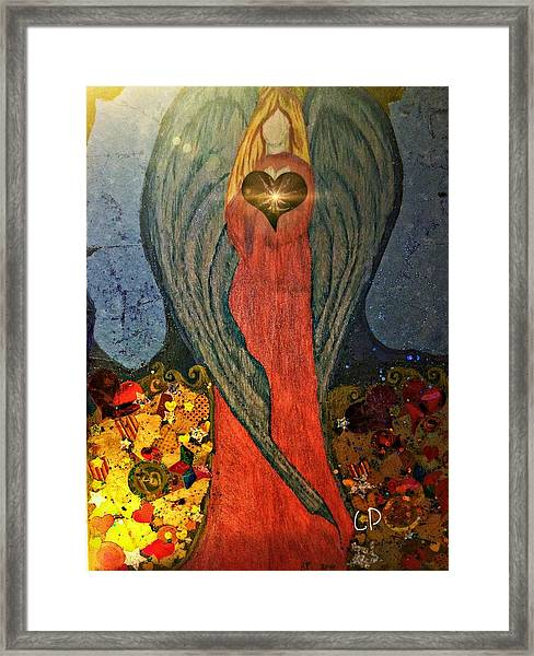 Angel Sails Waves Of Love Framed Print