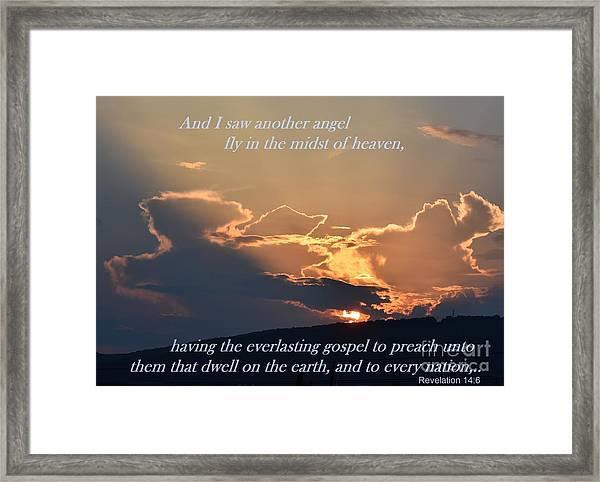Angel Sky Framed Print
