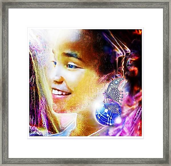 Angel Smile Framed Print