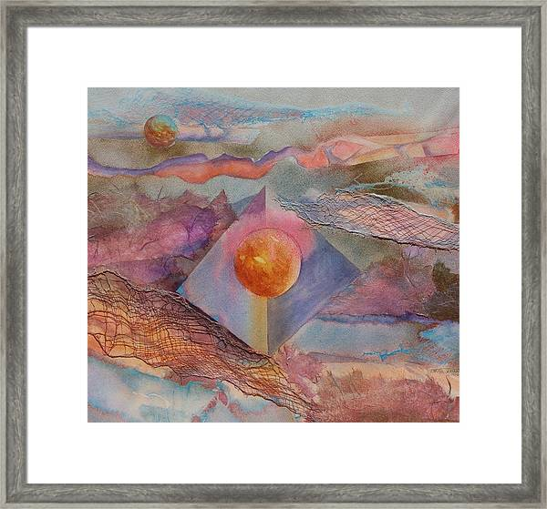 Angel Sphere Framed Print