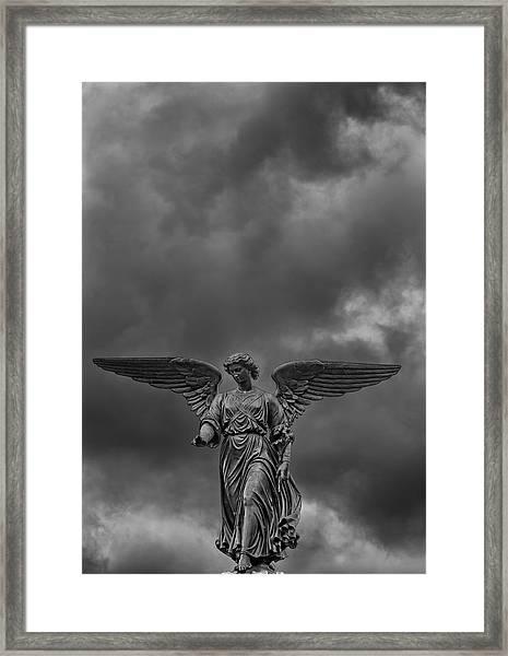 Angel Statue Bethesda Fountain Central Park 2 Framed Print