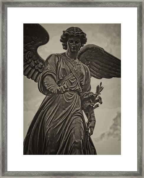 Angel Statue Bethesda Fountain Central Park Framed Print