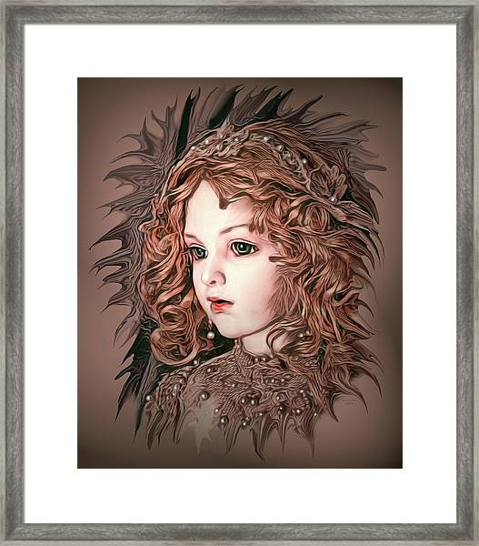 Angelic Doll Framed Print