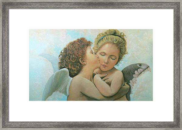 Bouguereau Angels- My Adaptation Framed Print