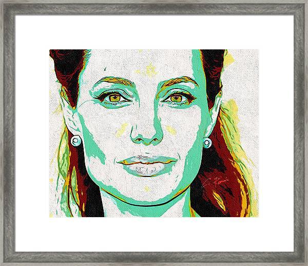 Angelina Jolie Framed Print