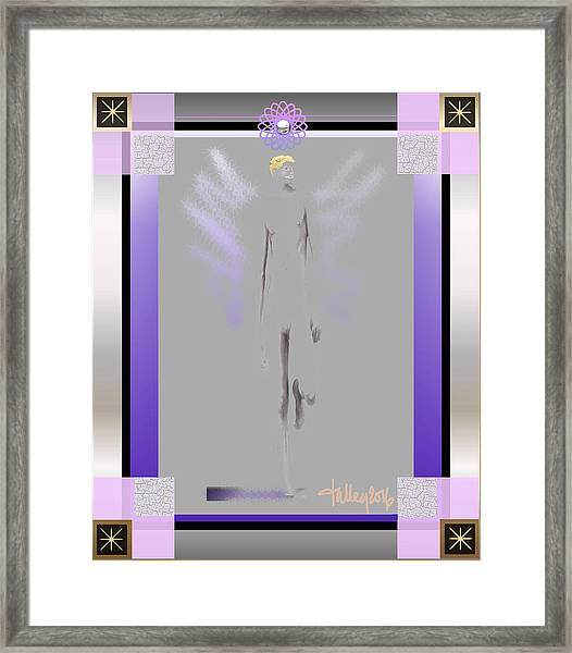 Framed Print featuring the digital art Angels - Archangel Michael by Larry Talley