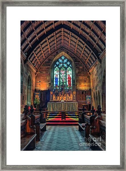 Angels Light Framed Print