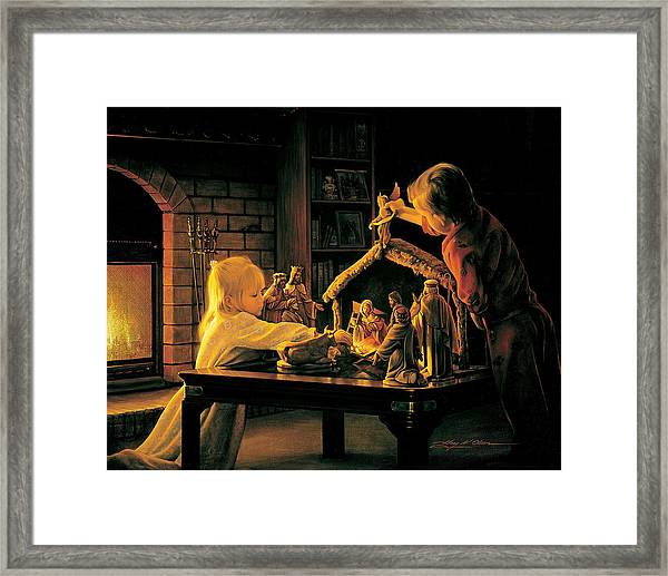 Angels Of Christmas Framed Print