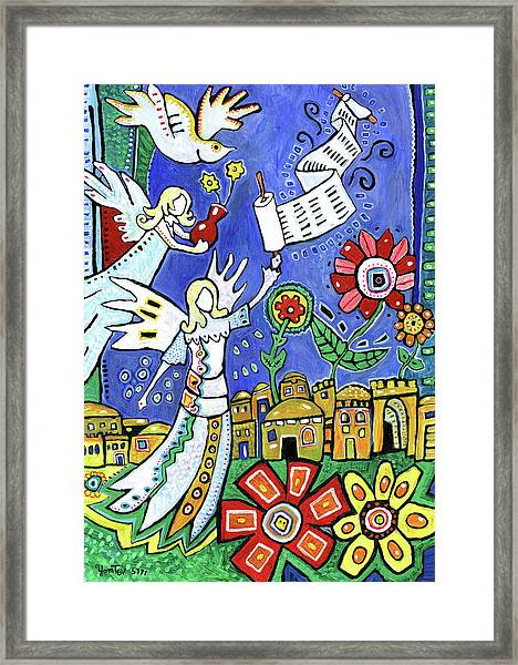 Angels Over Jerusalem Framed Print