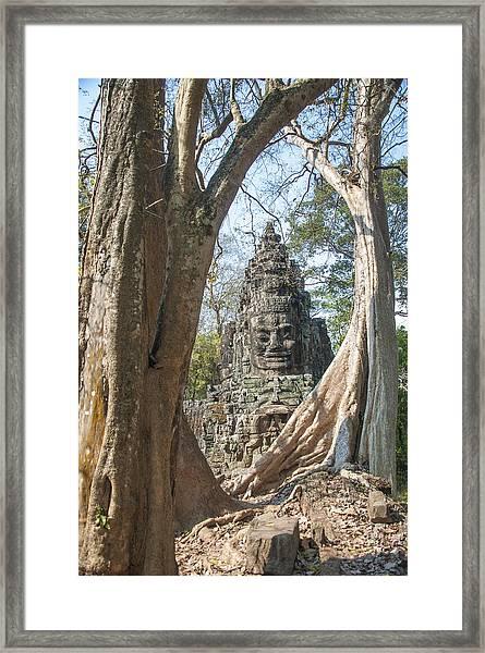 Angkor Thom South Gate Framed Print