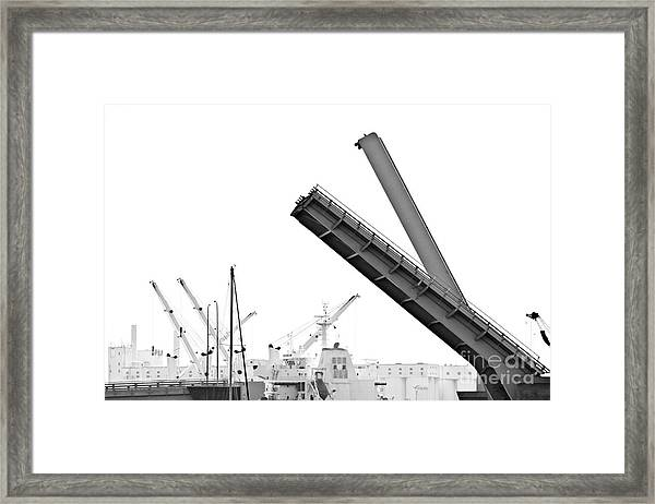 Angle Of Approach Framed Print