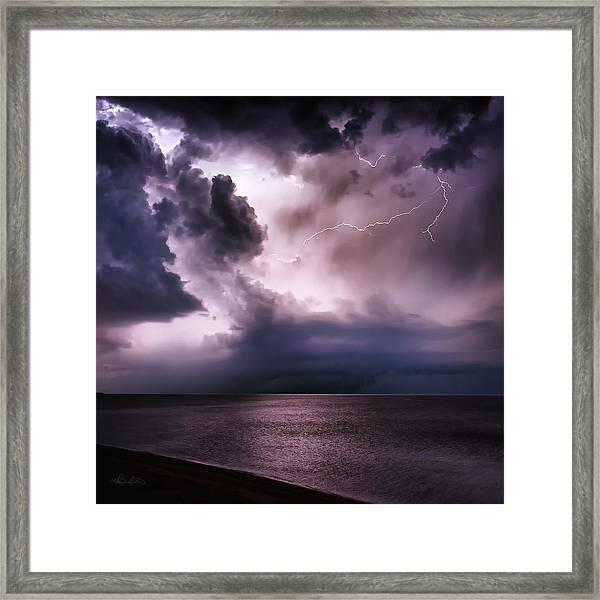 Angry Heavens Framed Print