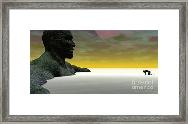 Framed Print featuring the digital art Anguish by Sandra Bauser Digital Art