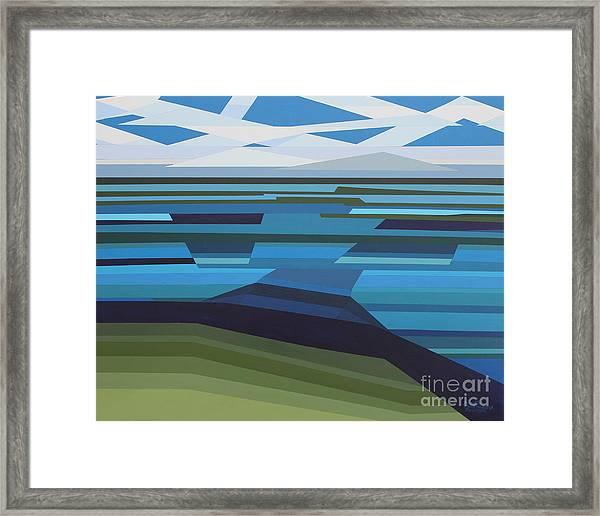 Angular Lake Framed Print