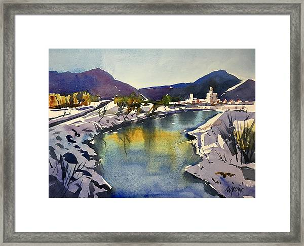 Animas River At Durango Colorado Framed Print