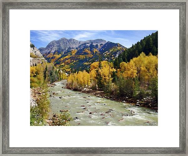 Animas River San Juan Mountains Colorado Framed Print