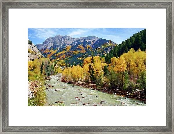 Animas River San Juan Mtns, Co, Panorama Framed Print