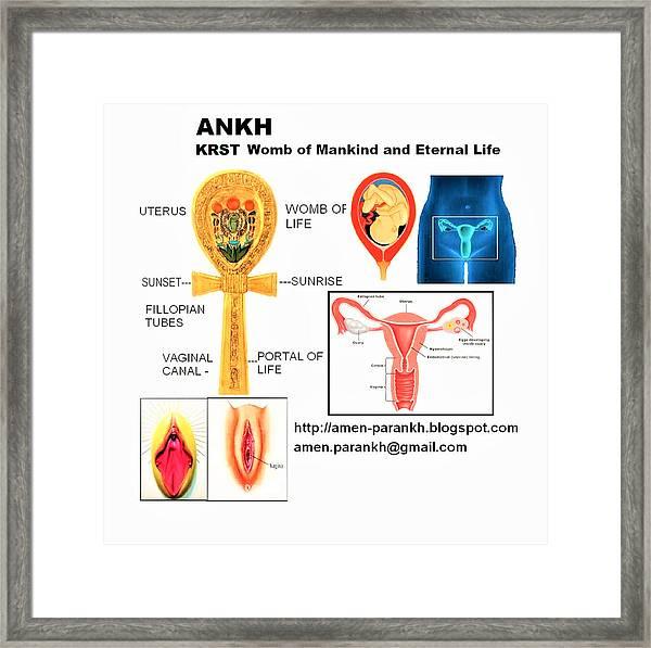 Ankh Womb Framed Print