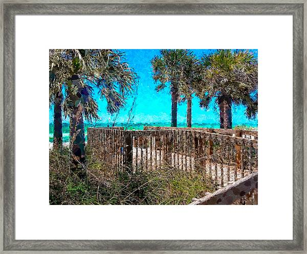 Anna Maria Boardwalk Access Framed Print