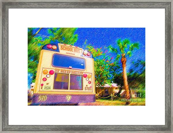 Anna Maria Elementary School Bus C131270 Framed Print