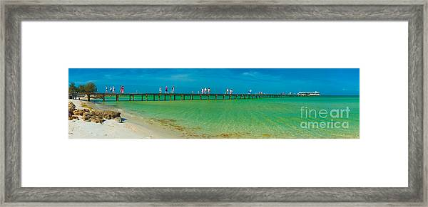 Anna Maria Island Historic City Pier Panorama Framed Print