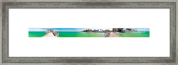 Anna Maria Island With Rod And Reel Pier Framed Print