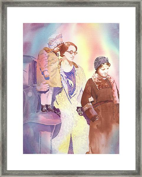 Anna Nation And Her Girls, 1932      Framed Print