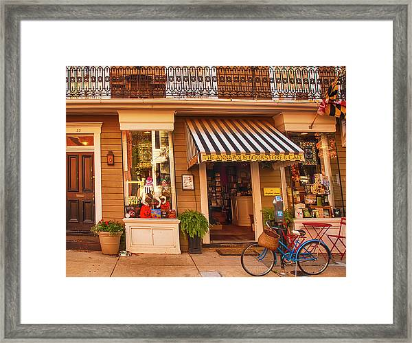 Annapolis Bookstore Framed Print