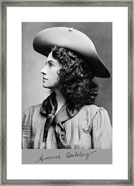 Annie Oakley Profile Framed Print