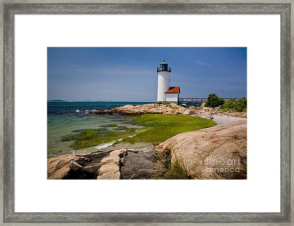Framed Print featuring the photograph Annisquam Harbor Light by Susan Cole Kelly