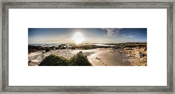 Another Beach Sunset Framed Print