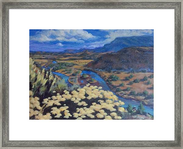 Another Day Above Rio Chama Framed Print