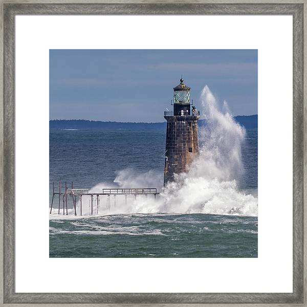 Another Day - Another Wave Framed Print