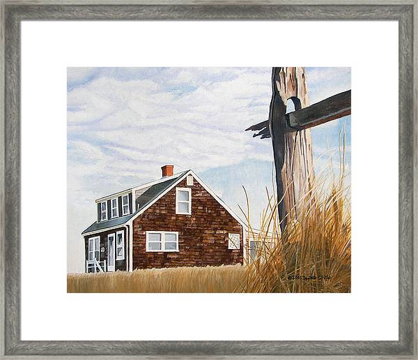 Framed Print featuring the painting Another New England Sunrise by Dominic White