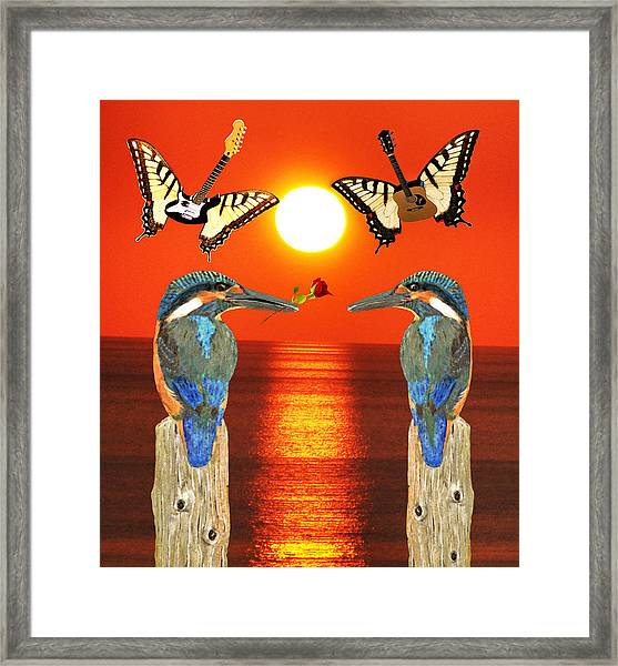 Framed Print featuring the digital art Another Part Of  Me by Eric Kempson