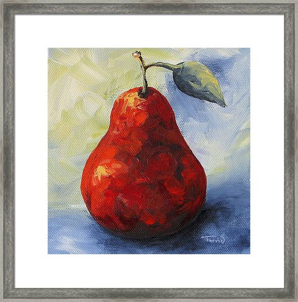 Another Red Pear Framed Print
