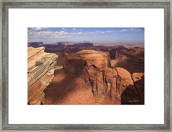Another View From Hunt's Mesa Framed Print