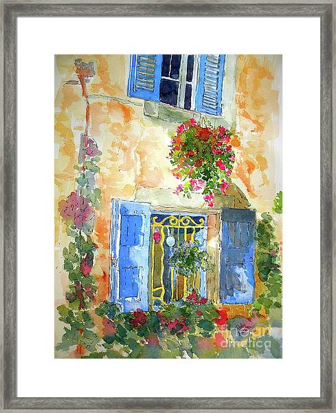 Ansouis Windowbox Framed Print