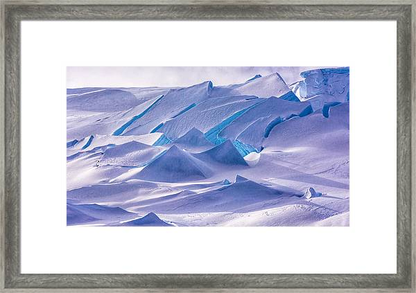 Antarctic Landscapes  Framed Print