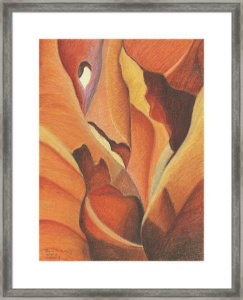 Antelope Canyon 4 - For Gloria Framed Print