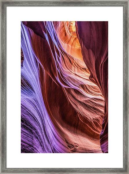 Antelope Canyon Air Glow Framed Print